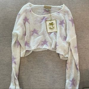 NWT Wildfox Cropped Sweater